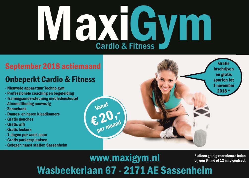 Actie MaxiGym september